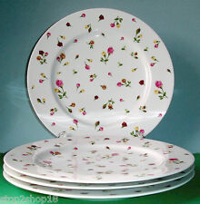 Royal Albert COUNTRY ROSE BUDS Set of 4 Dinner Plates New In Box