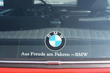 """BMW Decal EURO """"Aus Freude am Fahren"""" Vintage Sticker aufkleber"""