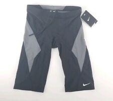$52 Nike NX Victory Black / Grey Block Jammer  Swim Wear Medium 30