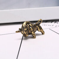 Solid Brass Bull Keychain Pendant Zipper Head Accessories Tools Outdoor Key~QA