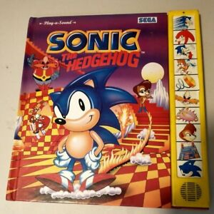 Vintage 1995 Sonic the Hedgehog Play-A-Sound Book Working/Tested Read Desc