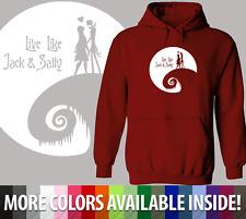 Unisex Hoodie Sweater Nightmare Before Christmas Live Like Jack Sally Moon Light