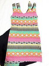 cgq - Aztec Assymetrical Dress PINK ( Sz Small- Medium)