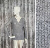 ALLUDE 100% Cashmere Knit Jumper Sweater Pullover size M
