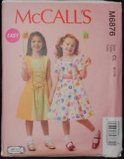 McCalls-Pattern-M6876-Gir ls-Dress-w-Trim-Options-Pe tticoat-Lace Up Ribbon 2-5