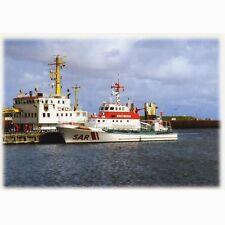 """AK DGzRS Seenot-Rettungskreuzer """"Alfried Krupp"""" im Hafen von Borkum"""