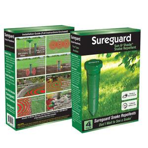4 Pack SUREGUARD™ Snake Repeller Pulse Vibration Repel Repellent Pest Control