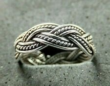 5mm *Bn* good quality, sturdy ring Solid Silver Toe Ring, weave/plait design,