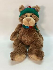 "Gund 44543 Teddy B. Caring Brown Christmas Bear Plush 17"" Good Condition"