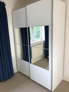 Two Door Wardrobe with Sliding mirrored doors