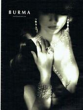 Publicité Advertising 1019  2015   Burma  joaillerie bijoux