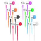 3.5mm In-Ear Earbuds Mic Stereo Earphone Headset Headphone For iPhone iPod MP3