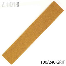 The Edge Nails Cushioned Washable Brown Coarse PLUS Nail File 100/240 GRIT