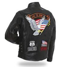 Cazadora de Piel Águila / Live To Ride - Hombre - Moteros País Talla Grande
