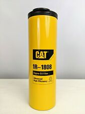 Caterpillar Oil Filter Stainless Steel Tumbler Cat Travel Mug Rare 17oz