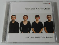 PHILIP GLASS & MICHAEL NYMAN Works For Saxophone Quartet CD 2011, Genuin 11222
