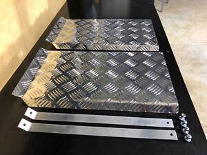 Aluminium checker plate ute tray mudguards Heavy duty 4x4 inc hardware.