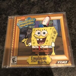 WORKING! Vintage Spongebob Squarepants Employee of the Month 2002 PC THQ