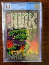 Incredible Hulk Annual #1 CGC 8.0 1968 Steranko Cover