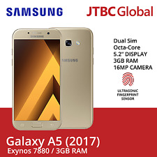 New Samsung Galaxy A5 2017 A520 32GB 16MP Duos Factory Unlocked Android Phone(G)