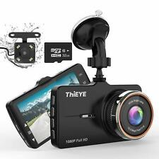 Thieye Dash Cam Front and Rear Car Camera Recorder 1080p
