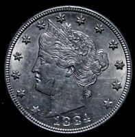 1884 Liberty Nickel UNC Condition.  re6a A50-1150