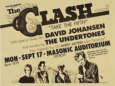 """The Clash Detroit 16"""" x 12"""" Photo Repro Concert Poster"""