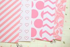 Pink Love scrapbooking paper valentine craft 250gsm fancy heart dots cardstock