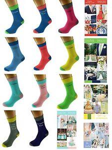 WEDDING title SOCKS Mens Two Tone Socks Groom Best Man UK 5-12 - X6TCW
