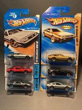 Hot Wheels '81 Delorean DMC-12 Lot of 6 2010 New Models 2011 FTE 2014 City VHTF