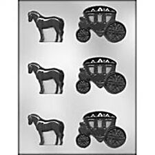Horse & Carriage  CHOCOLATE MOLD Princess Queen Wedding Baby Shower Party