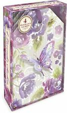 Purple Butterfly Linen Lavender-Scented Sachets by Punch Studio