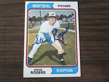 1974 Topps # 169 Steve Rogers Autogrpah / Signed card Montreal Expos