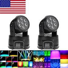 2X Stage Light Lighting 105W DMX Moving Head 4-in-1 RGBW Wash LED 9/14CH C3C3