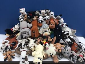 VTG LOT 45 Pound Puppies Purries Dogs Cats Plush Doll Toys 1980s Tonka Babies