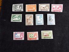 Malaya:  Kedah 1957 Definitive set of 11 stamps mounted mint