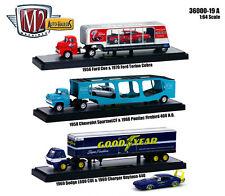 "AUTO HAULERS RELEASE 19 ""A"" 3 TRUCKS SET 1/64 M2 MACHINES 36000-19 A"
