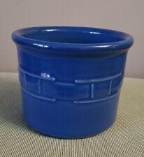 Longaberger Pottery Woven Traditions Cornflower Blue One Pint Salt Crock