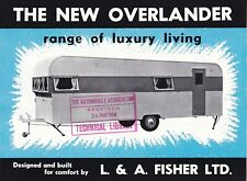 L & A. Fisher LTD, NEW Overlander gamme de luxe Living mobil home notice.
