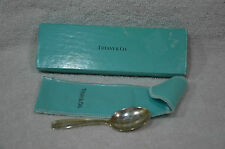 Vintage Sterling Baby Spoon by Tiffany - Original Bag and Box - No Monograms