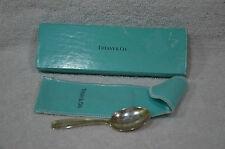 Vintage Sterling Baby Spoon by Tiffany - Original Bag and Box - No Monograms