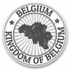 2 x Vinyl Stickers 20cm (bw) - Kingdom of Belgium Map Travel Stamp  #40032