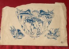 Vintage Antique Tattoo Zeis Production Flash Original Tattooing History