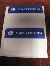 Eastern Airlines EAL Vintage 1950's to 1960's satin cloth Luggage Labels Set (2)