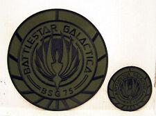"BATTLESTAR GALACTICA GREEN Patch Set of 2-Large Jacket 8"" & 4"" Logo (BGPA-76S2)"