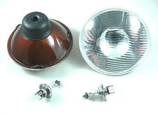 Mini Morris Moke Clubman Leyland H4 Halogen Curved Lens Headlight Kit no Parker