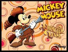 "MICKEY MOUSE COWBOY FRIDGE MAGNET # 4 LOGO 9. 4"" X 5"". DISNEY CARTOONS.FREE SHIP"