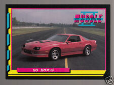 1988 CHEVROLET CAMARO IROC-Z 350ci V8 Muscle Car Photo 1992 TRADING CARD
