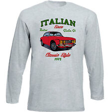 VINTAGE ITALIAN CAR ALFA ROMEO GIULIA GT 2000 VELOCE - NEW COTTON T-SHIRT
