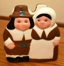 Publix Pilgrim Pair Thanksgiving Table Ceramic Napkin Holder